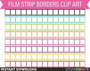 80% OFF Sale Clipart Film Strip Borders Digital Personal ...