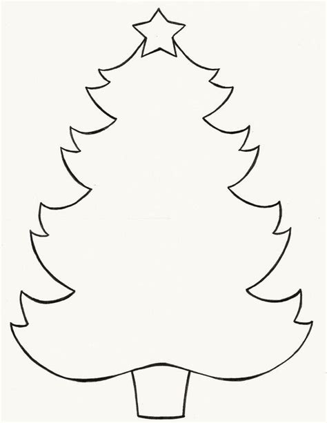 christmas tree outlines az coloring pages
