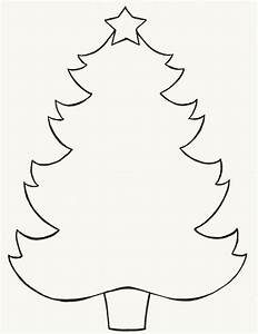 Christmas Tree Outlines - AZ Coloring Pages