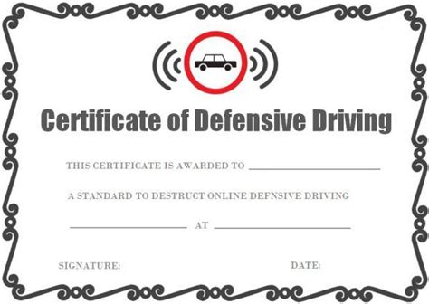 safe driving certificate template images  pinterest