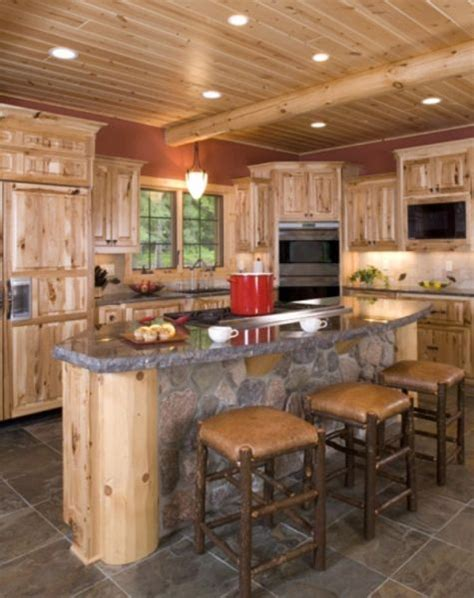 rustic log kitchen cabinets best 25 rustic hickory cabinets ideas on 5010