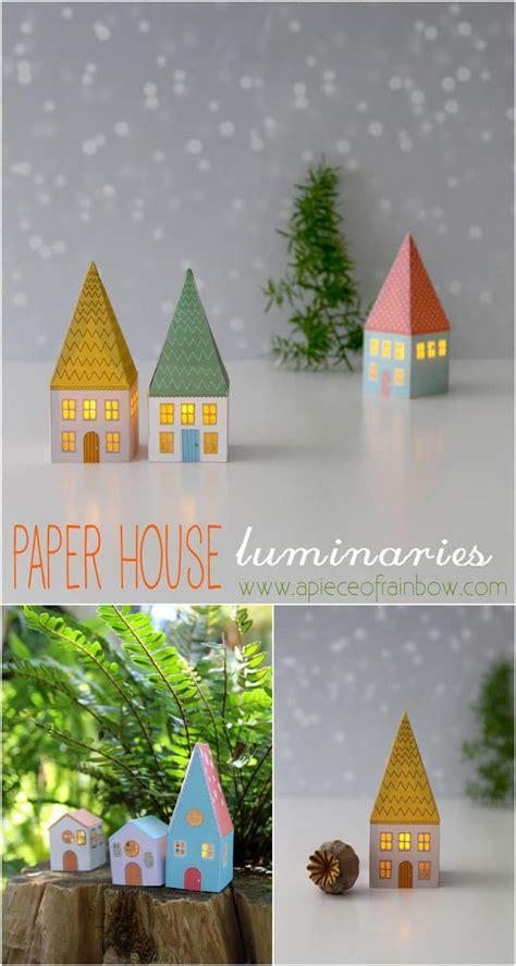 diy paper house luminaries  piece  rainbow