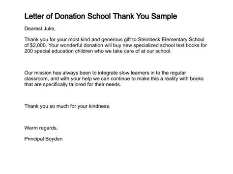 letter  donation