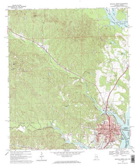 Eufaula North Topographic Map Al Ga Usgs Topo Quad 31085h2