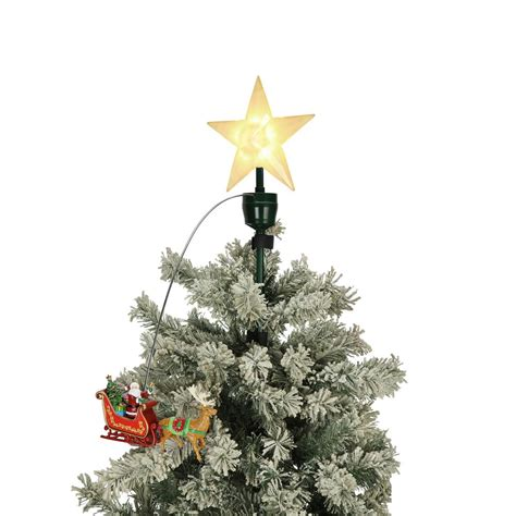 mr christmas 20 in tree topper santa and sleigh 49301