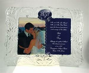 7 best images about engraved picture frames on pinterest With engraved wedding invitation picture frame