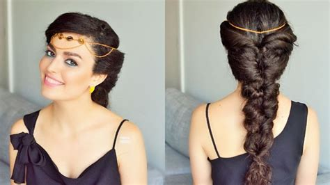 fake fishtail braid princess jasmine hairstyle braids  long hair braided hairstyles