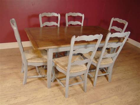 farm table dining set english farmhouse painted ladderback chair kitchen