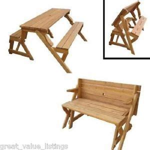 picnic table bench garden wood transforming