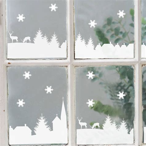 25 best ideas about christmas window stickers on