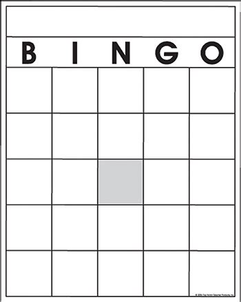 blank bingo cards by top notch top3520 top notch