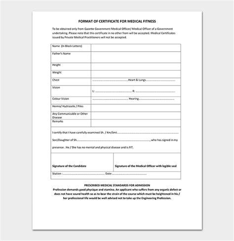 medical certificate  doctor template