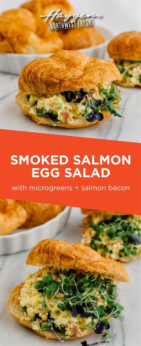 Fresh smoked salmon with bagels, soft boiled eggs, cream cheese and capers, everything seasoning and so much more. Smoked Salmon Egg Salad Sandwich | Northwest Fresh ...