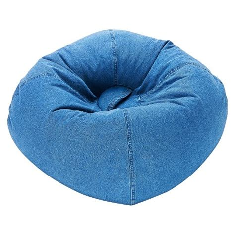ace bayou denim bean bag chair blue target