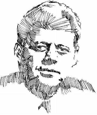 Drawing Jfk Kennedy Sketch Rough Michael Drawings