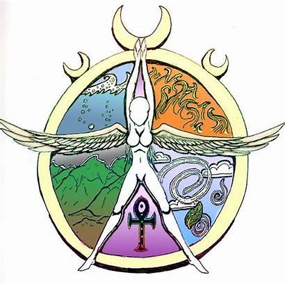 Pentacle Elemental Wiccan Deviantart Wicca Goddess Witch