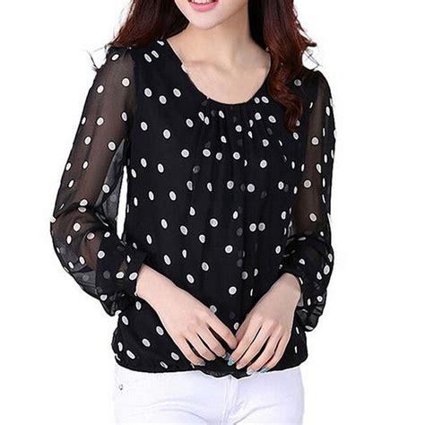 polka dot blouses polka dot chiffon blouses sleeve pullover