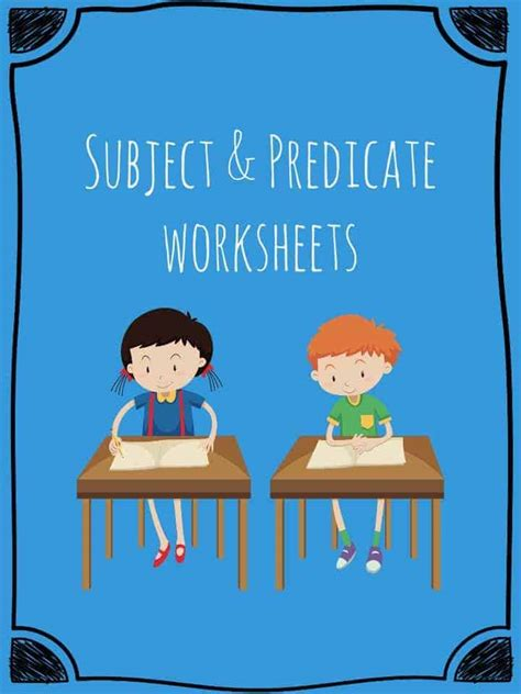 subject  predicate worksheets teaching resources