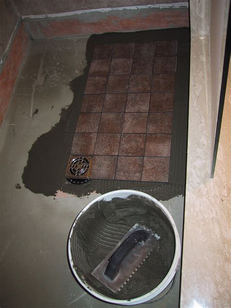 floor design how to tile tile in a shower floor