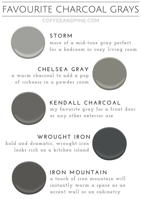 Favorite Charcoal Grays  Coffee And Pine  Pinterest