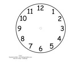 Printable Clock Face Template