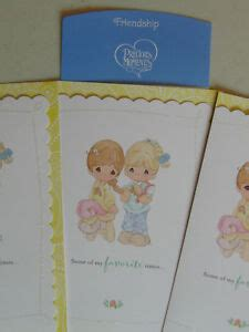 3 Precious Moments FREINDSHIP Greeting Cards Christian