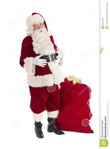 santa claus standing with bag full of gifts royalty free stock photo image 32651515