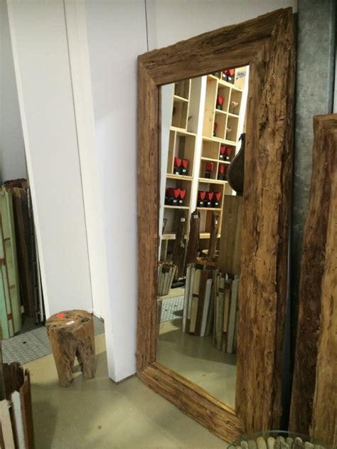 Spiegel Massivholz Teak, Wandspiegel, Maße 200 x 100 cm