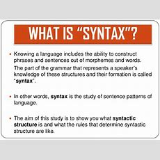 10 Syntax (syntax & Phrases