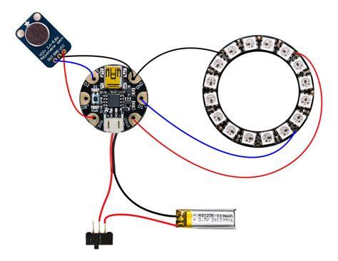 Circuit Diagram Printed Led Microphone Flag