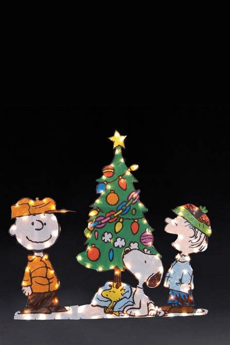 light up peanuts christmas decorations snoopy and