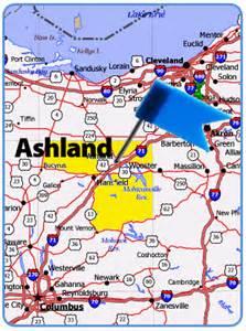 Ashland Ohio Map