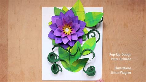 giant flower pop  card scale model youtube