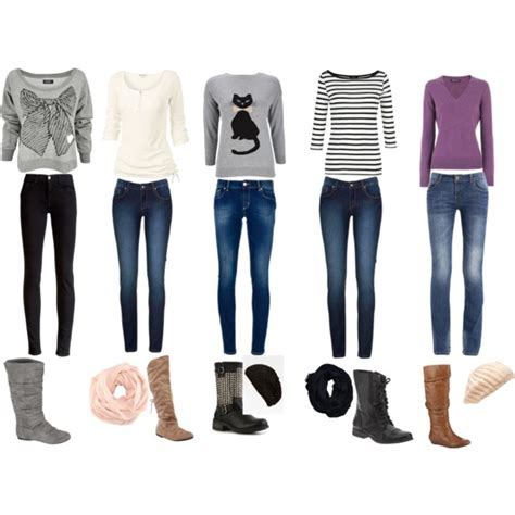 Cute u0026 casual winter outfits for every school day of the week!!! | Fall to Winter Outfits ...