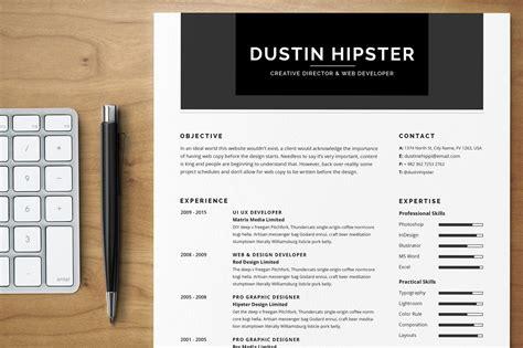resumecv set  hipster resume templates  creative