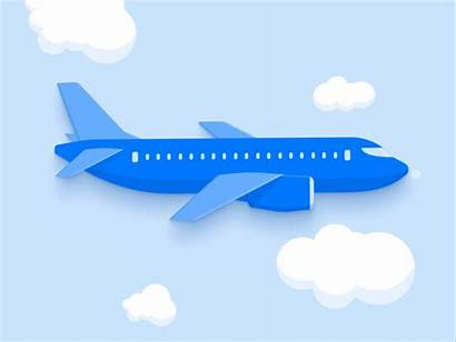 Plane Loop Airplane Animation Fly Travel Dribbble