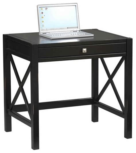 26 inch wide desk linon anna laptop desk in distressed antique black