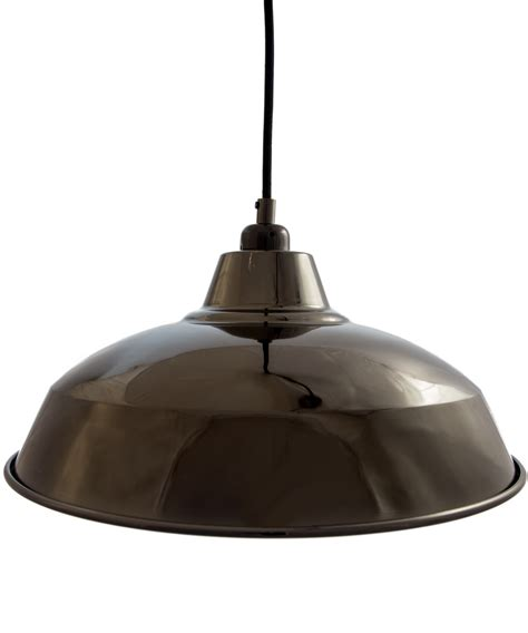 gloss black industrial pendant lampshade vintage factory