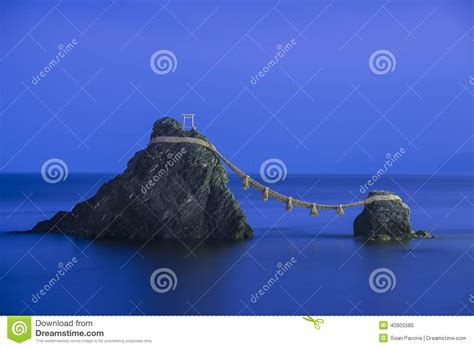 Meoto Iwa (the Wedded Rocks) Royalty-free Stock Image
