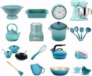 Brighten your kitchen with retro aqua kitchen tools and ...