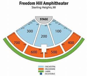 Freedom Hall Concert Seating Chart Freedom Hill Amphitheatre Sterling Heights Mi Seating