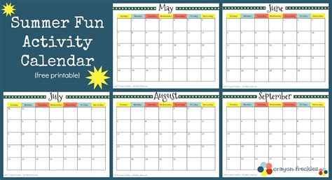 Summer Calendar Template Costumepartyrun