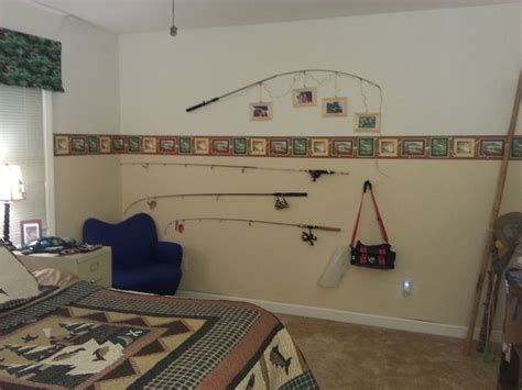 fish themed bedroom fishing theme boys bedroom ethans room pinterest fishing rods boys and the top