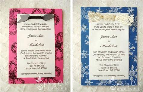 Homemade Wedding Invitation Ideas very easy idea