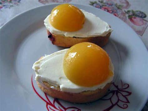 dessert trompe l oeil recette d oeufs sur le plat en trompe l oeil