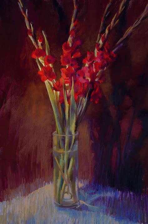 red gladiolus  cathy locke giclee print artful home