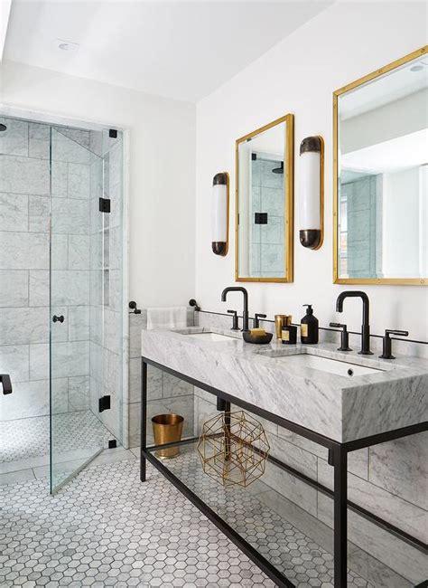 kohler brockway sink transitional bathroom corcoran