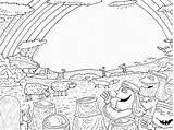 Coloring Rain Flood Haas Barbara Whole Earth Copyright Again sketch template
