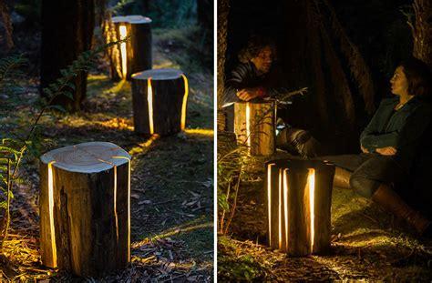 une lampe qui illumine par ses fissures naturelles joli