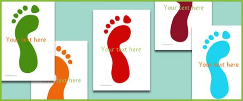 footprints editable text  early years primary